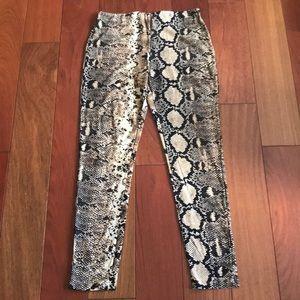 Women's Snake Skin Print Pants NEW Small